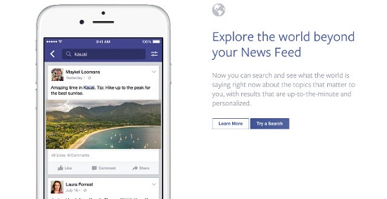 Facebook introduces universal search for all public posts 3