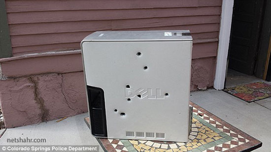Man Enraged By Malfunctioning Computer Shoots It Eight Times 2
